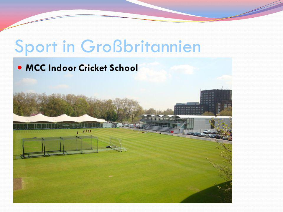 Sport in Großbritannien MCC Indoor Cricket School