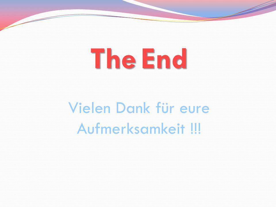 TheEnd The End Vielen Dank für eure Aufmerksamkeit !!!