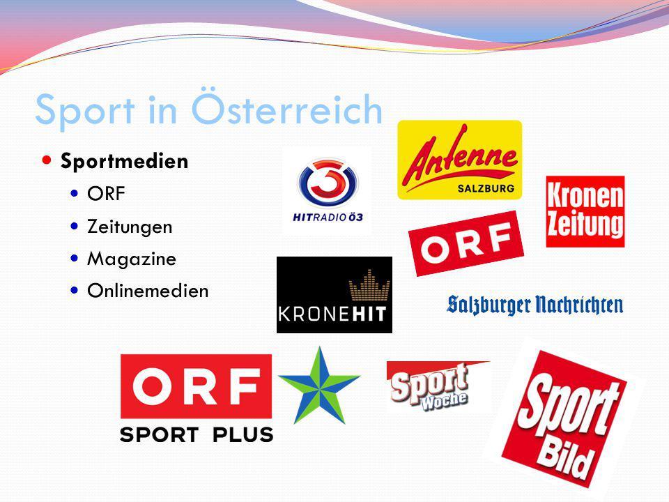Sport in Österreich Sportmedien ORF Zeitungen Magazine Onlinemedien