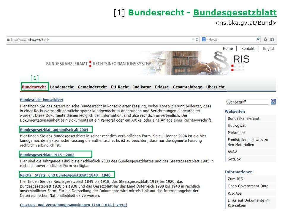 [1] [1] Bundesrecht - Bundesgesetzblatt