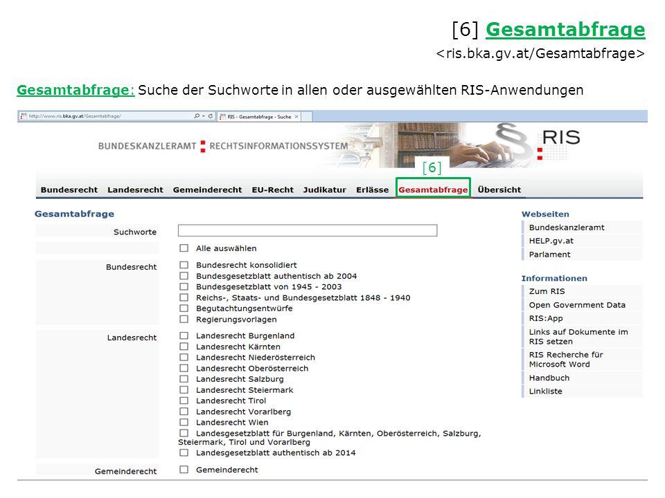 Beispiel: Tabakgesetz-Novelle 2004 Übersicht der Novellen [1] Bundesrecht Bundesrecht