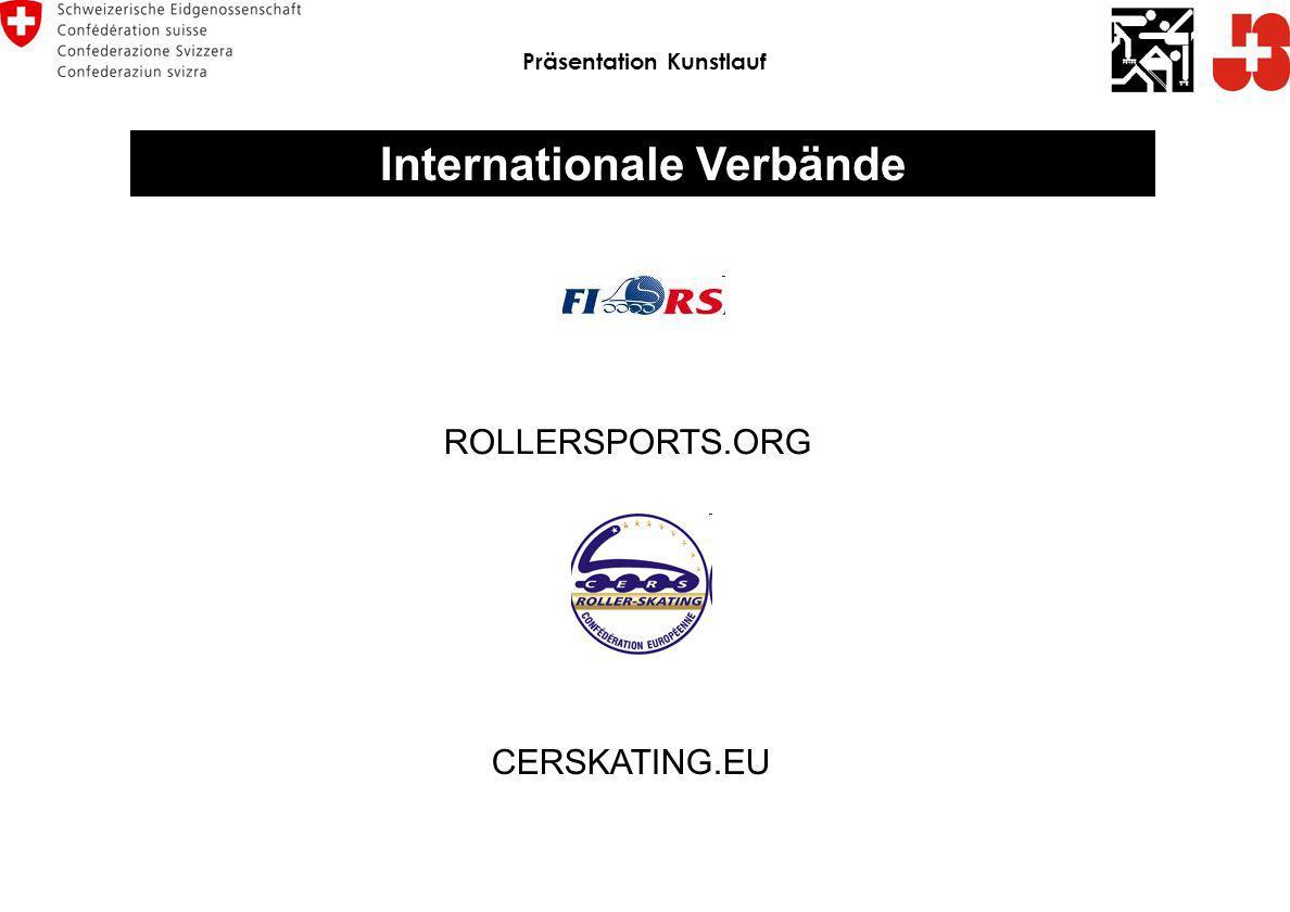 Internationale Verbände ROLLERSPORTS.ORG CERSKATING.EU Präsentation Kunstlauf