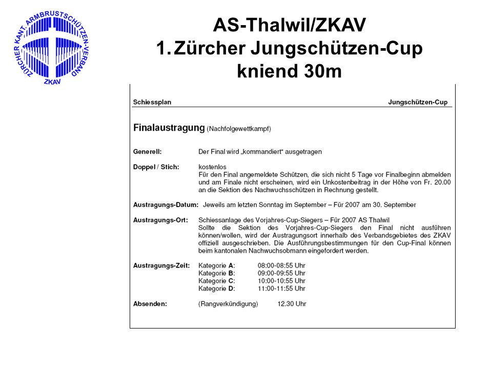 Polysportiv Wiedereinführung Austragungsort – AS Thalwil Beginn – 13.30 Uhr Teilnehmer: 32 Teilnehmer aus 1.