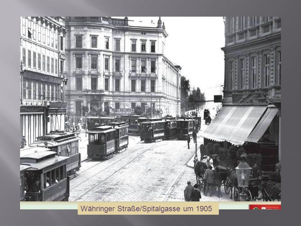 Währinger Straße/Spitalgasse um 1905