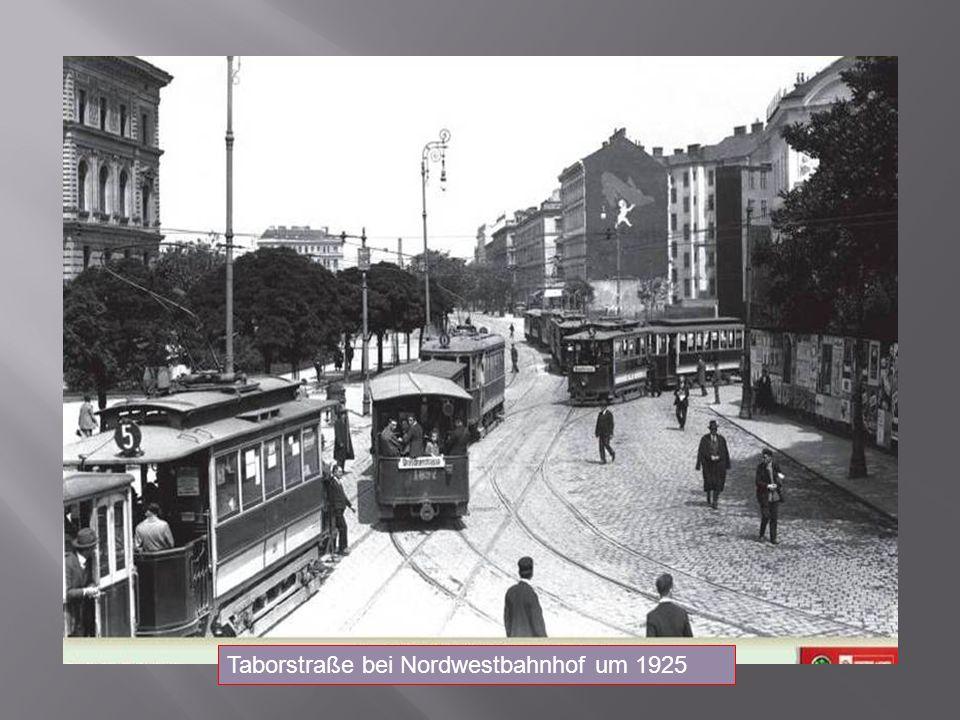 Taborstraße bei Nordwestbahnhof um 1925