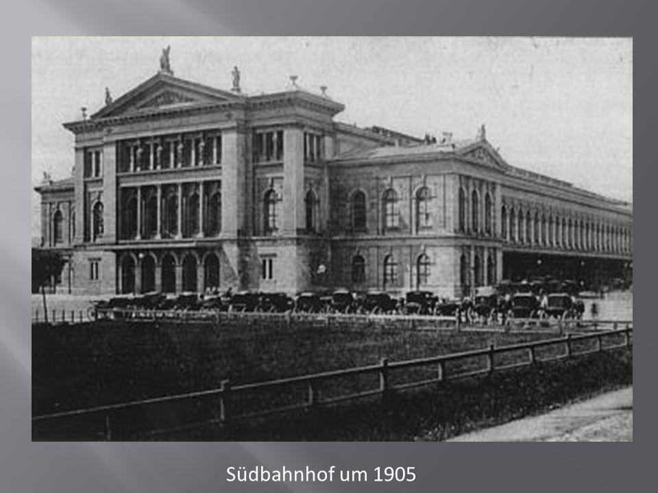 Südbahnhof um 1905