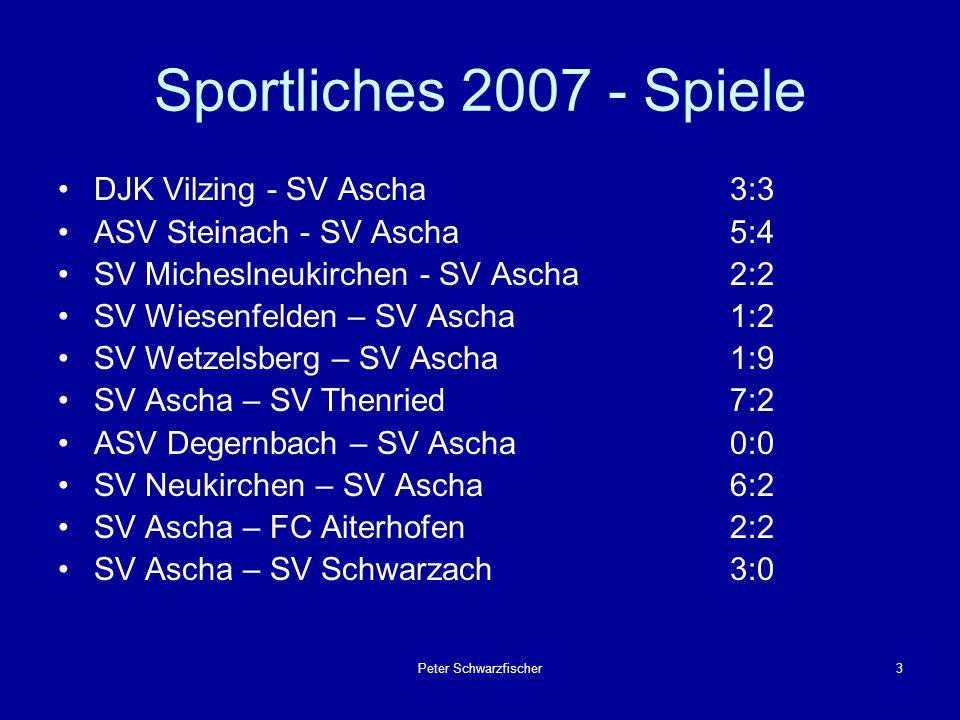 Peter Schwarzfischer4 Sportliches 2007 – Einsätze