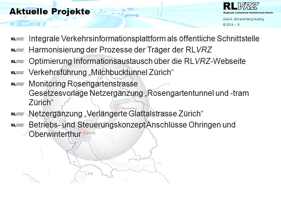Uwe A. Scharenberg-Nuding © 2014 - 6 Integrale Verkehrsinformationsplattform als öffentliche Schnittstelle Harmonisierung der Prozesse der Träger der