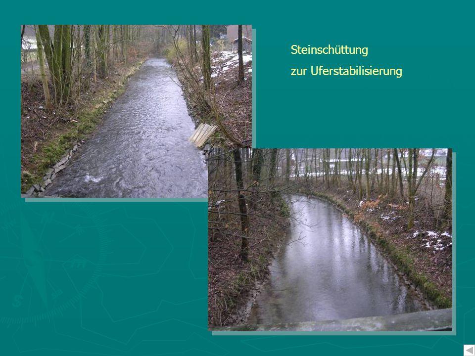 Steinschüttung zur Uferstabilisierung