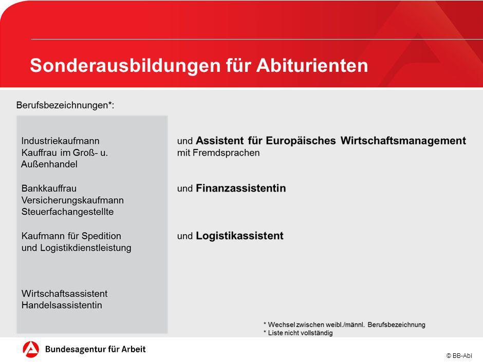 © BB-Abi Sonderausbildungen für Abiturienten