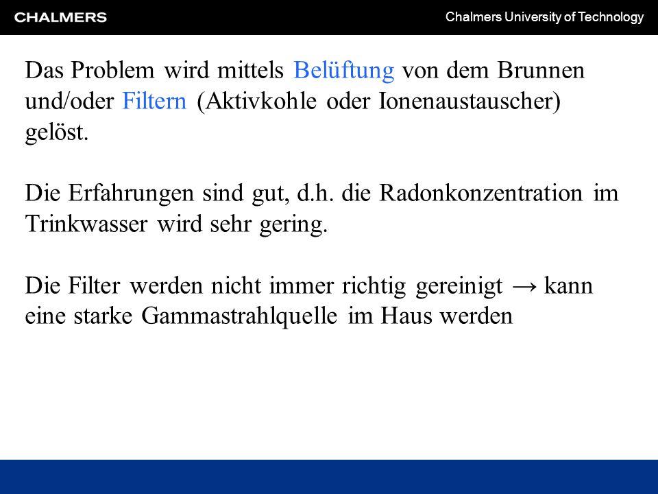 Chalmers University of Technology Baumaterialien mit Blaubeton sind das grösste Radonproblem in Schweden.