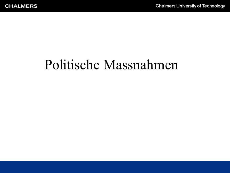 Chalmers University of Technology Politische Massnahmen