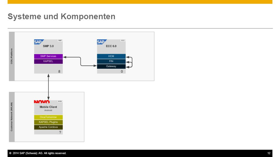 ©2014 SAP (Schweiz) AG. All rights reserved.12 Systeme und Komponenten