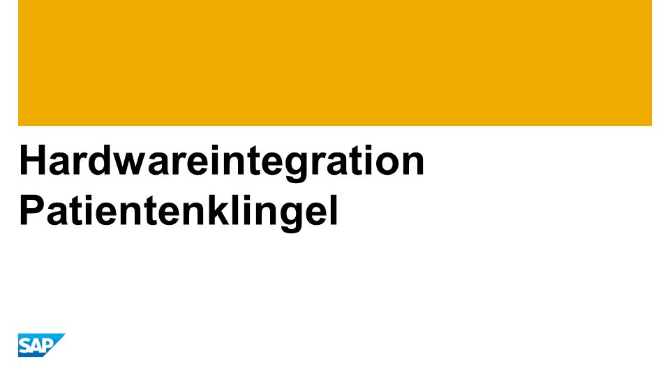 Hardwareintegration Patientenklingel