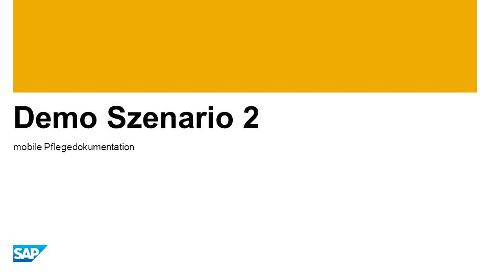 Demo Szenario 2 mobile Pflegedokumentation