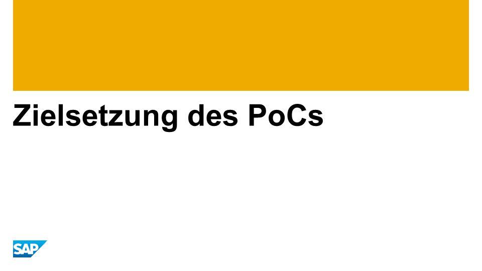 Zielsetzung des PoCs