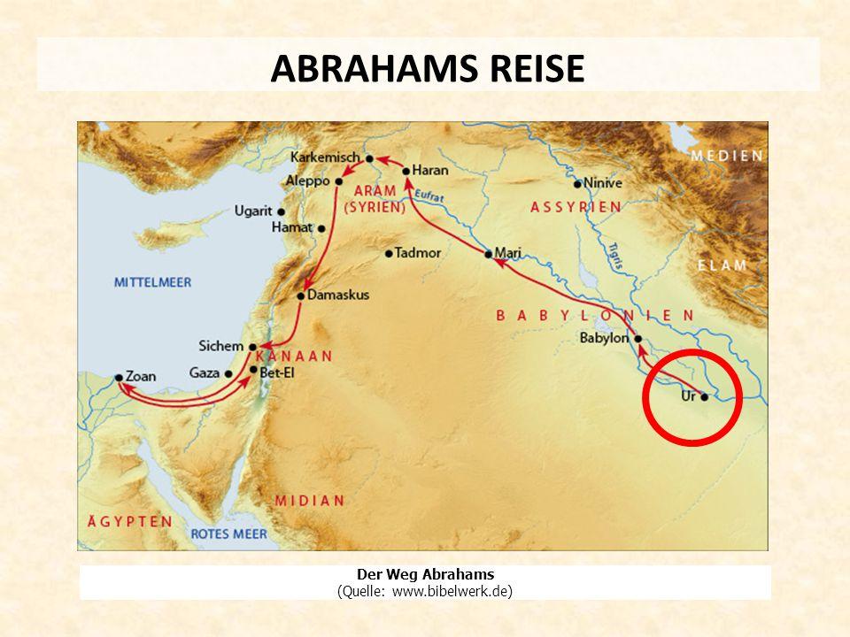 ABRAHAMS REISE Der Weg Abrahams (Quelle: www.bibelwerk.de)