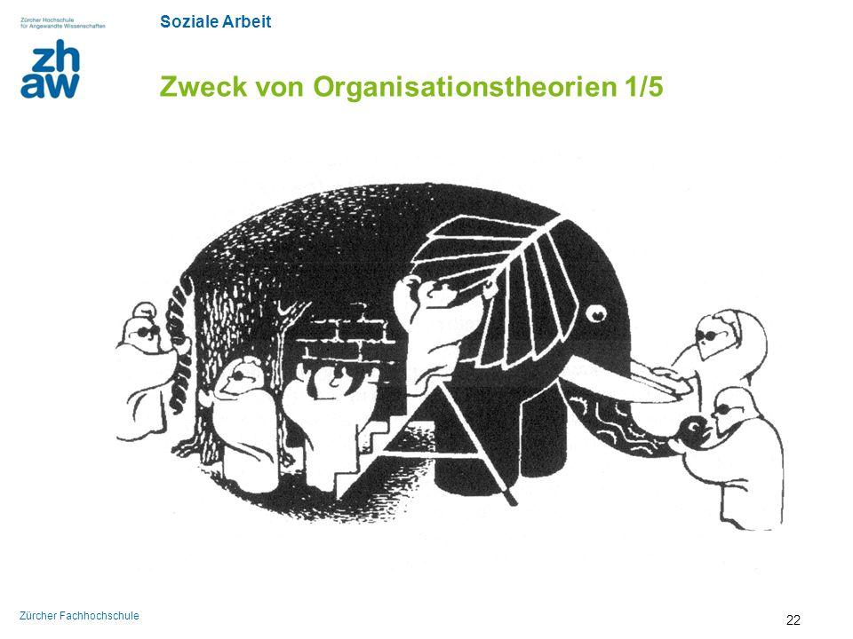 Soziale Arbeit Zürcher Fachhochschule Zweck von Organisationstheorien 1/5 22