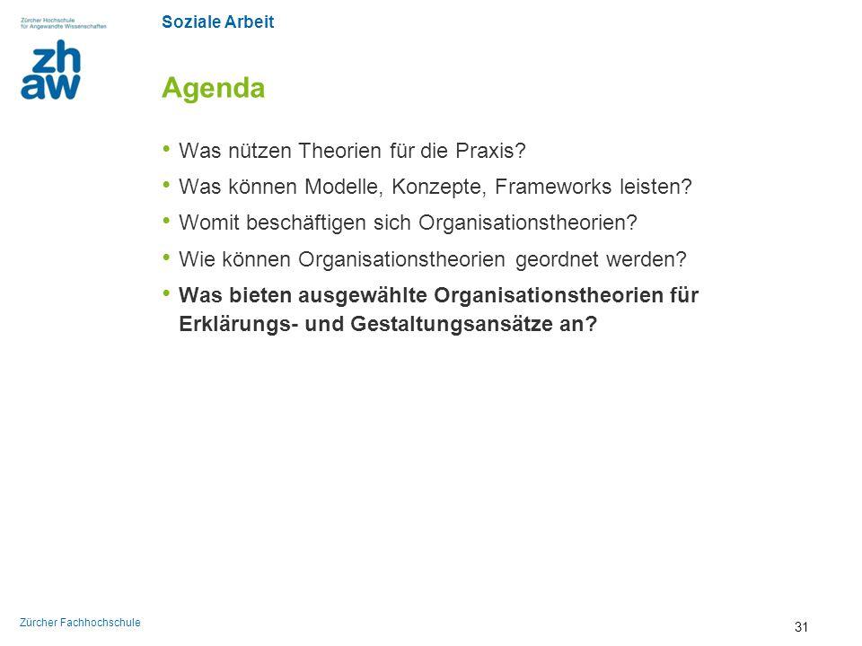 Soziale Arbeit Zürcher Fachhochschule Agenda Was nützen Theorien für die Praxis? Was können Modelle, Konzepte, Frameworks leisten? Womit beschäftigen
