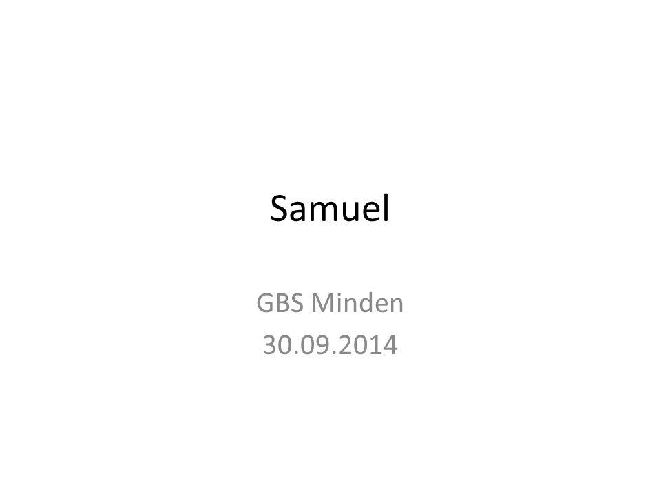 Samuel GBS Minden 30.09.2014