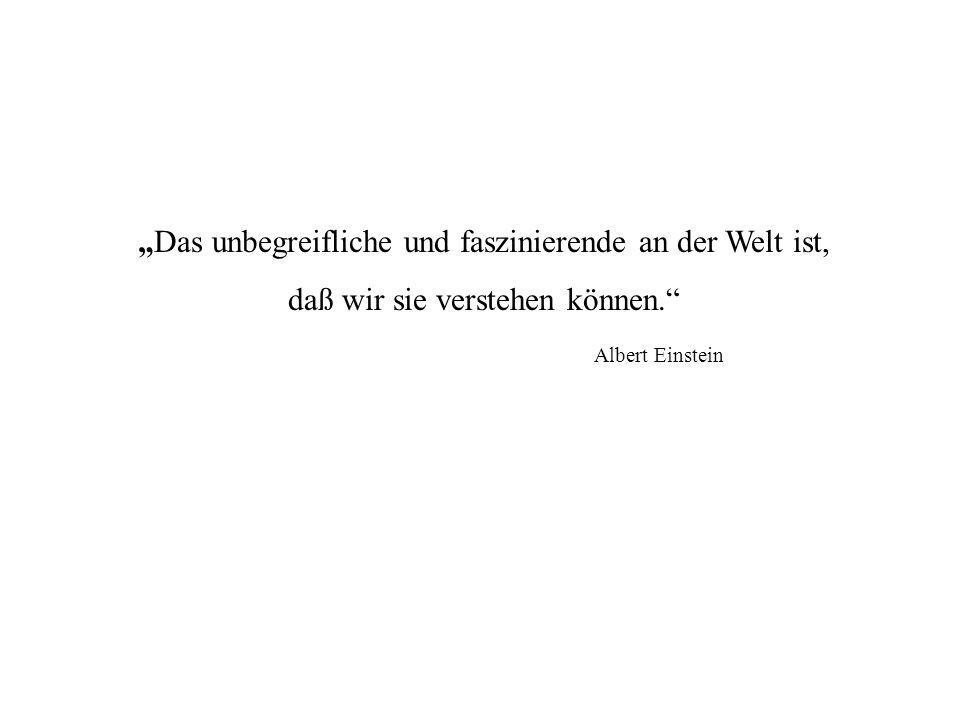 """""""Das unbegreifliche und faszinierende an der Welt ist, daß wir sie verstehen können."""" Albert Einstein"""