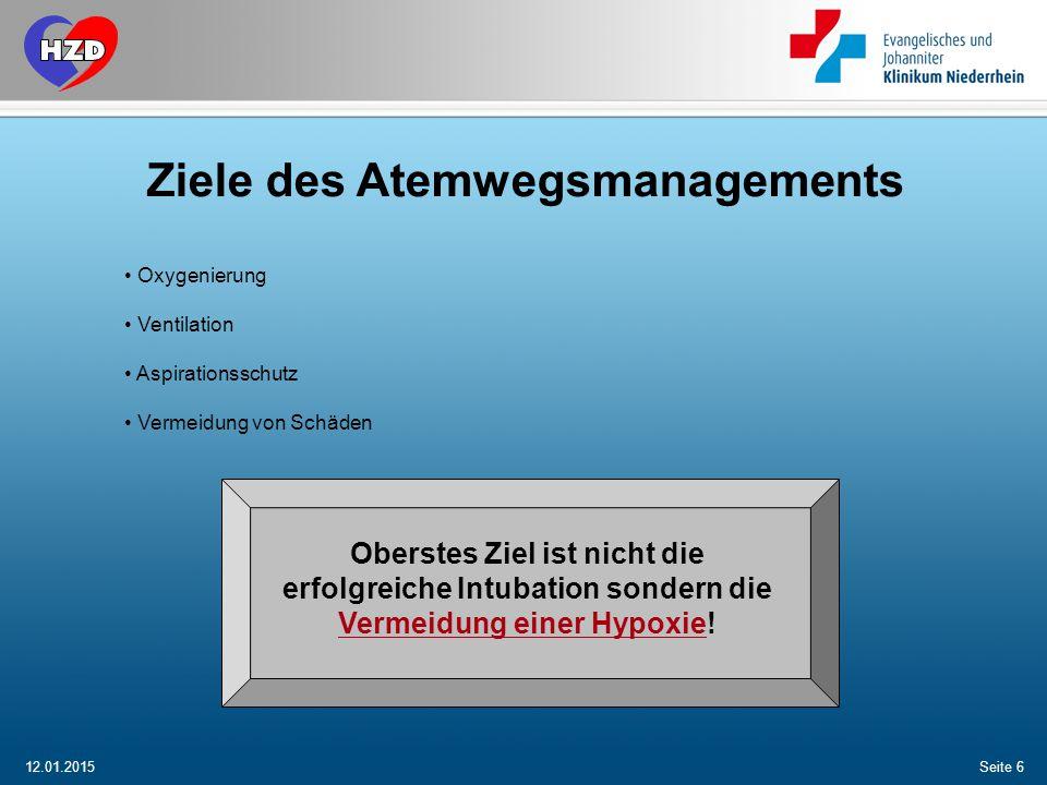 12.01.2015 Björn Dartmann Herzzentrum Duisburg / Kardiologische Intensiv Seite 37 2.