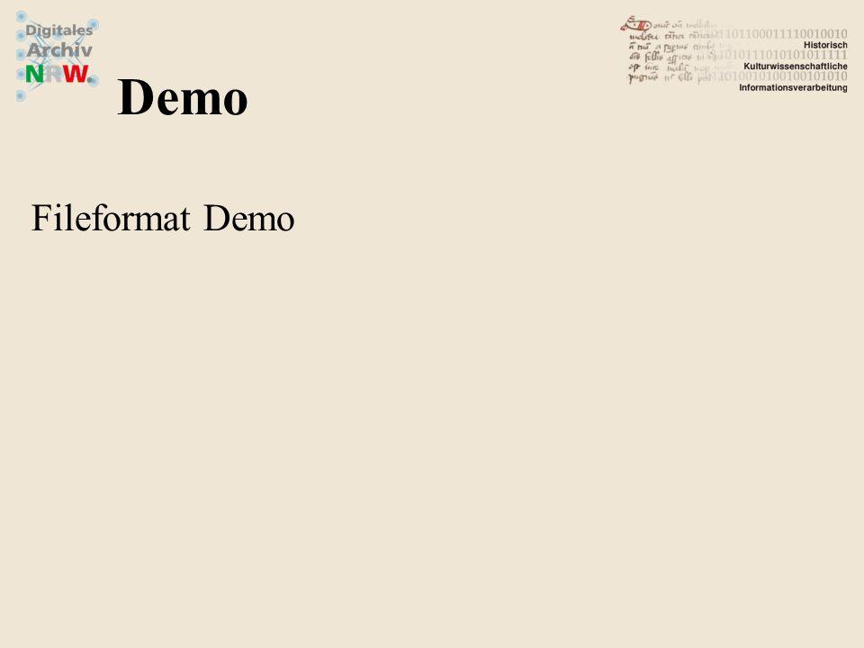 Fileformat Demo Demo