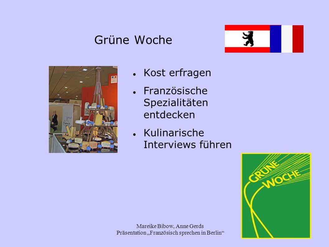 """Mareike Bibow, Anne Gerds Präsentation """"Französisch sprechen in Berlin Arbeitsaufträge Thema auswählen Gruppe finden 25 Minuten bearbeiten Präsentation im Anschluss bonne courage!"""