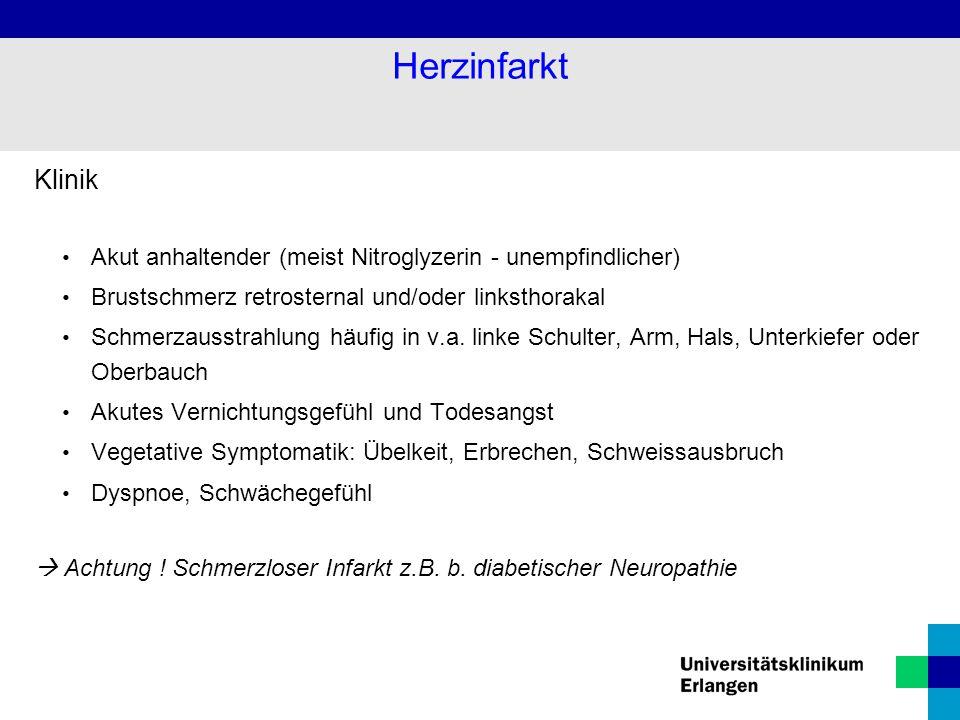 Diagnostik Klinik Labor: Herzenzyme (CK, Troponin I, GOT,....