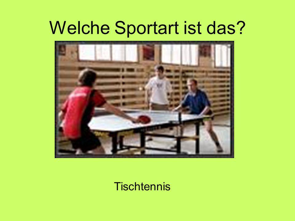 Welche Sportart ist das Tischtennis