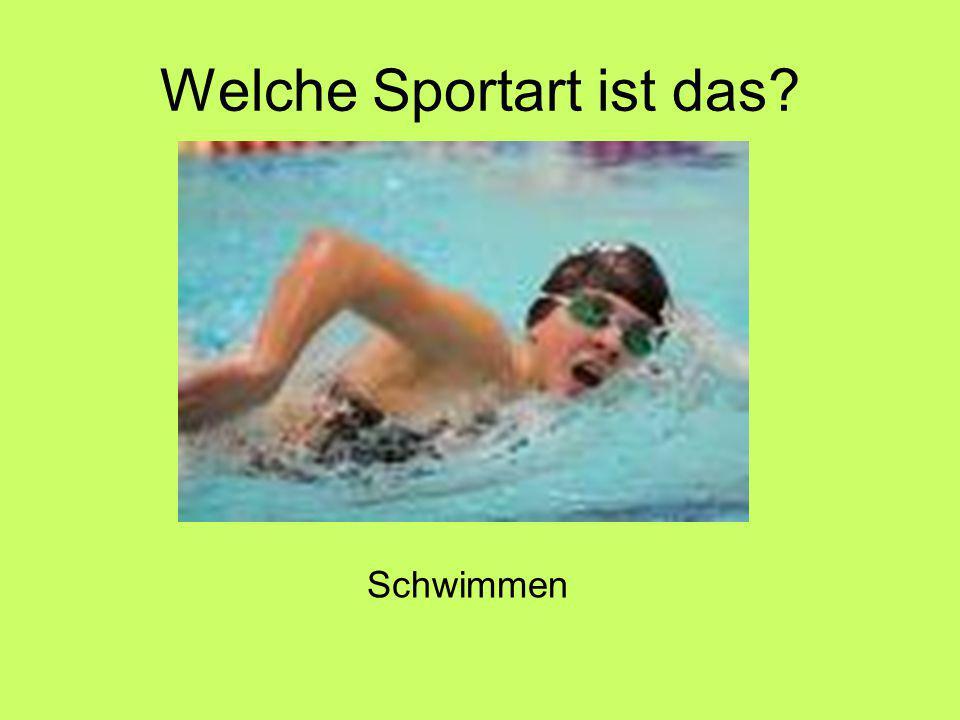 Welche Sportart ist das Schwimmen