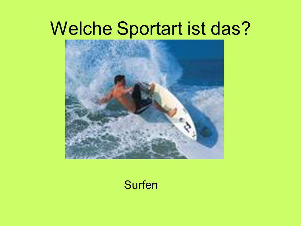 Welche Sportart ist das Surfen