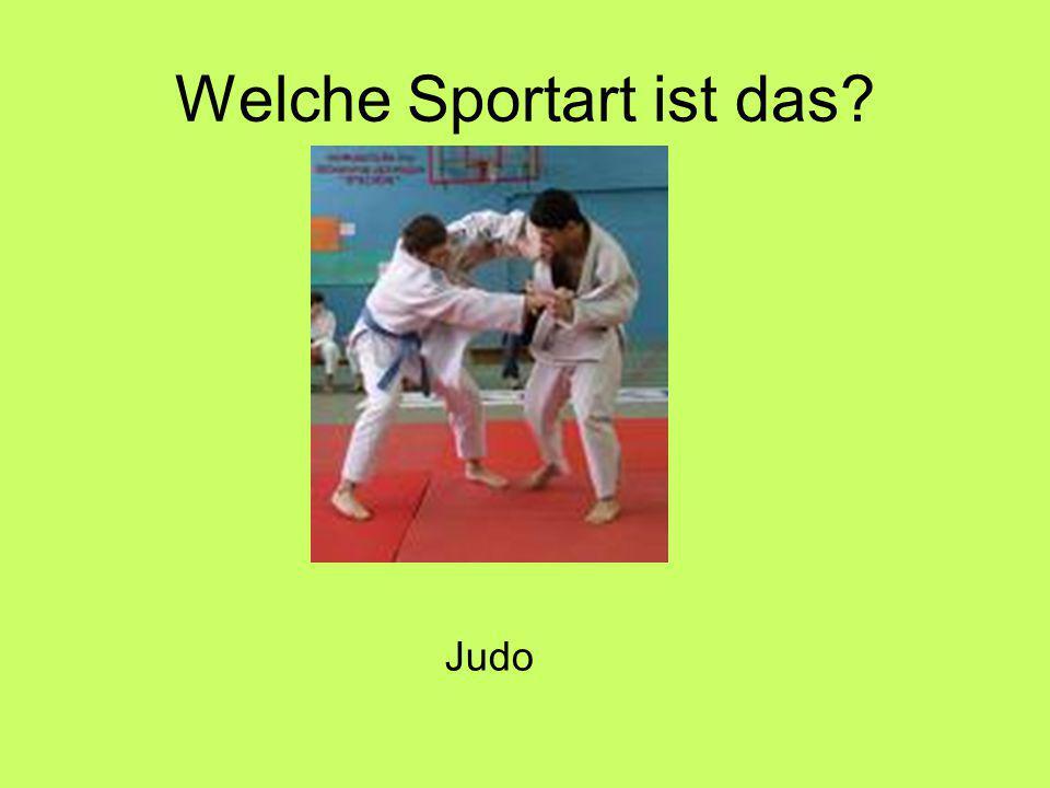 Welche Sportart ist das Judo