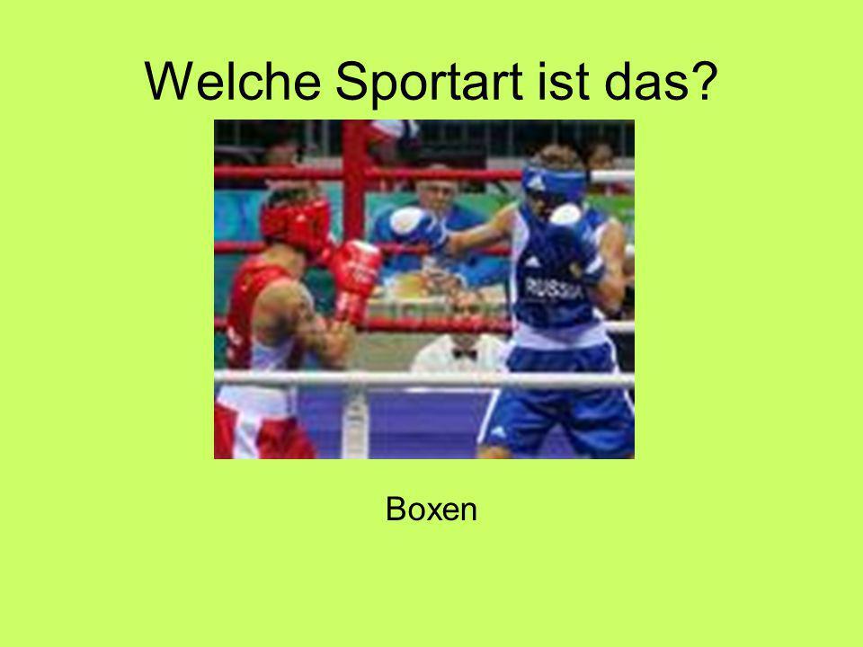 Welche Sportart ist das Boxen