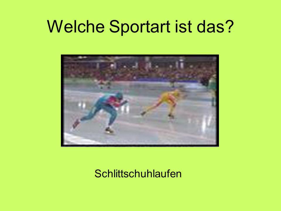 Welche Sportart ist das Schlittschuhlaufen