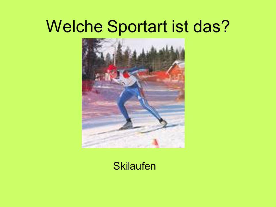 Welche Sportart ist das Skilaufen
