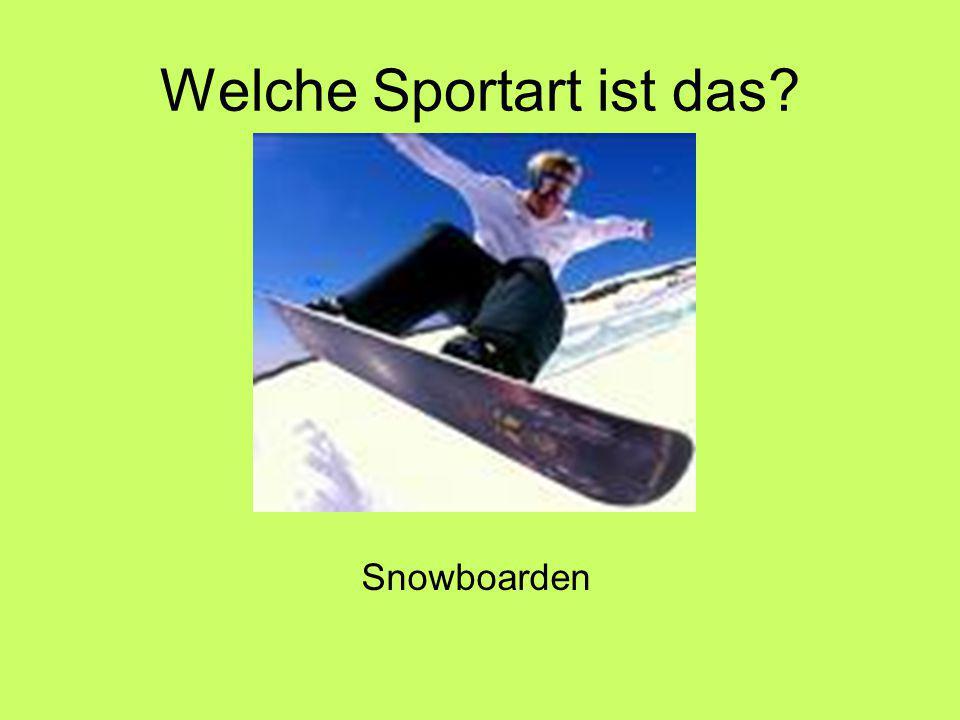 Welche Sportart ist das Snowboarden