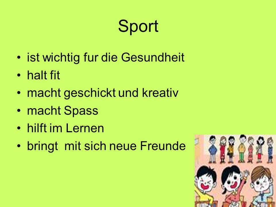 Sportarten LeichtathletikBallsportWassersportKampfsportWintersport