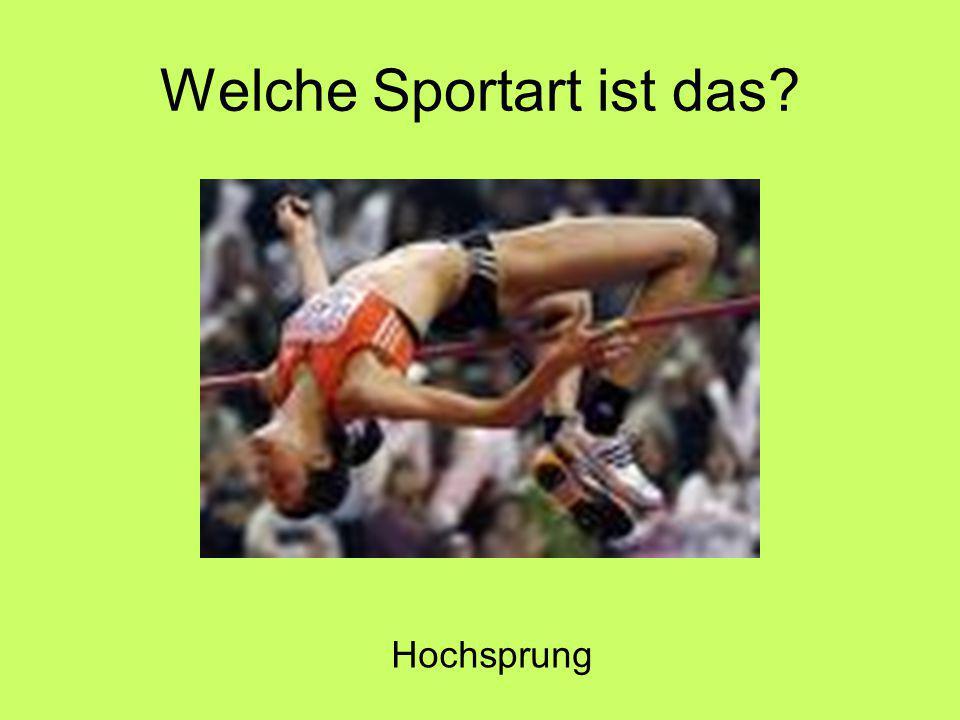 Welche Sportart ist das Hochsprung