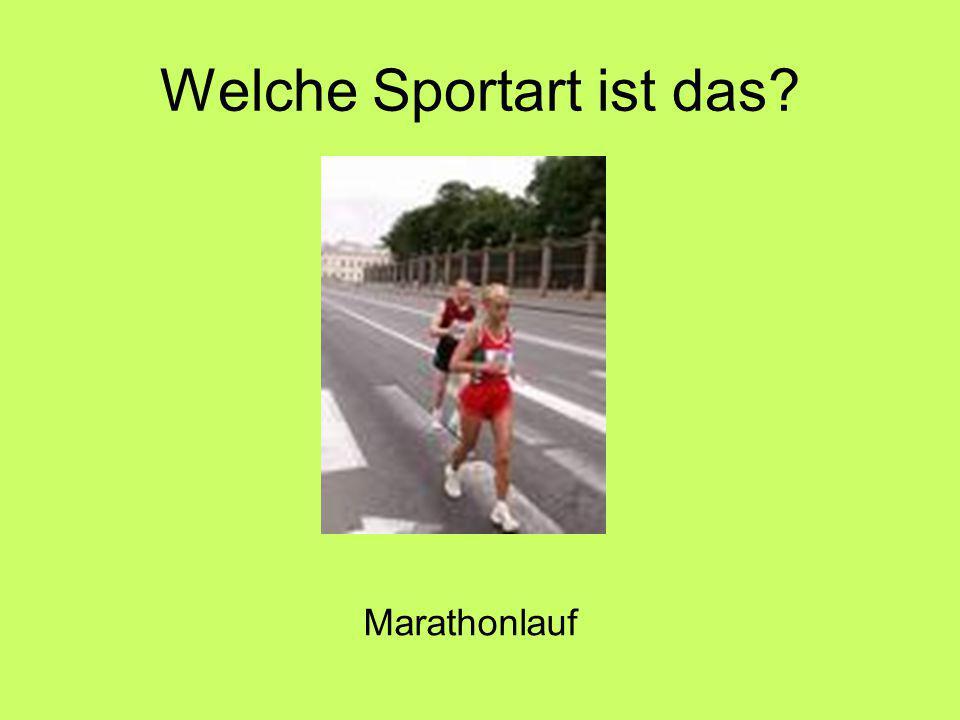 Welche Sportart ist das Marathonlauf