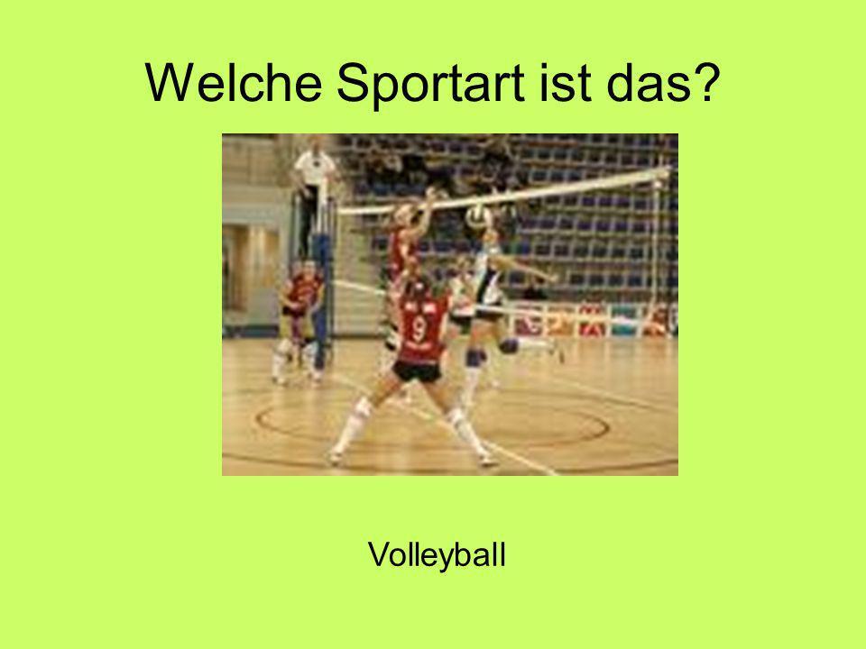 Welche Sportart ist das Volleyball