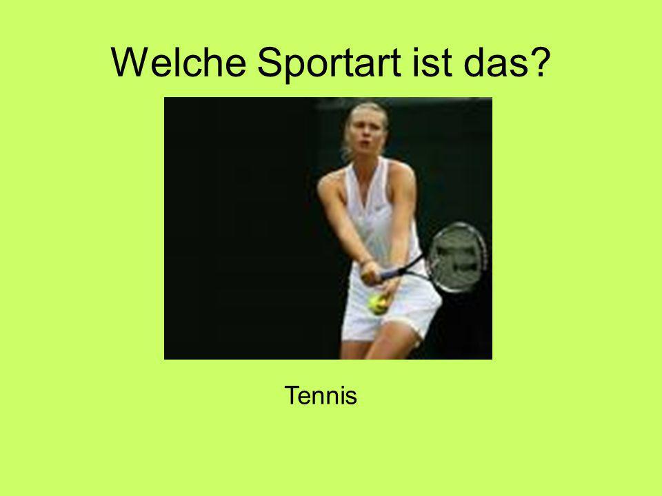 Welche Sportart ist das Tennis