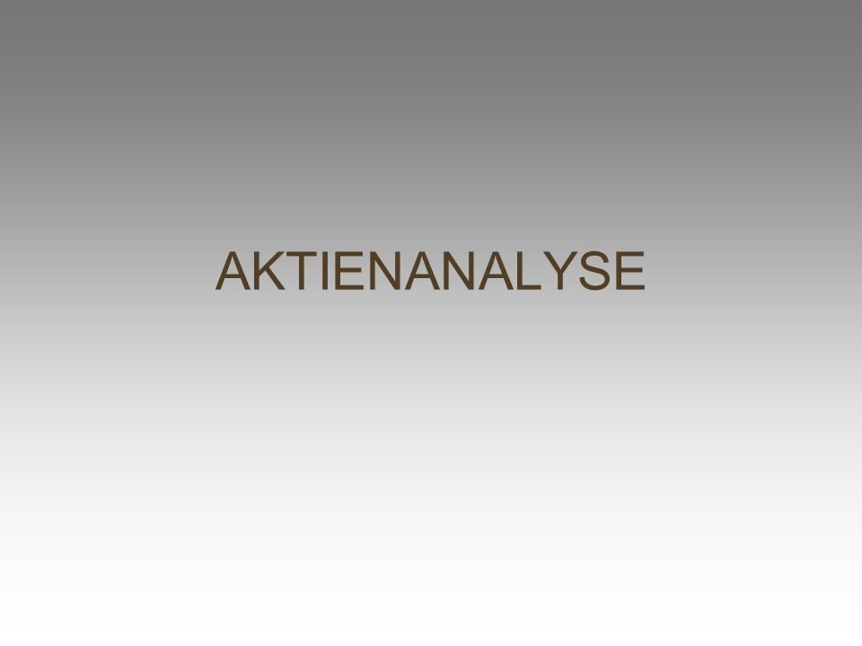 AKTIENANALYSE