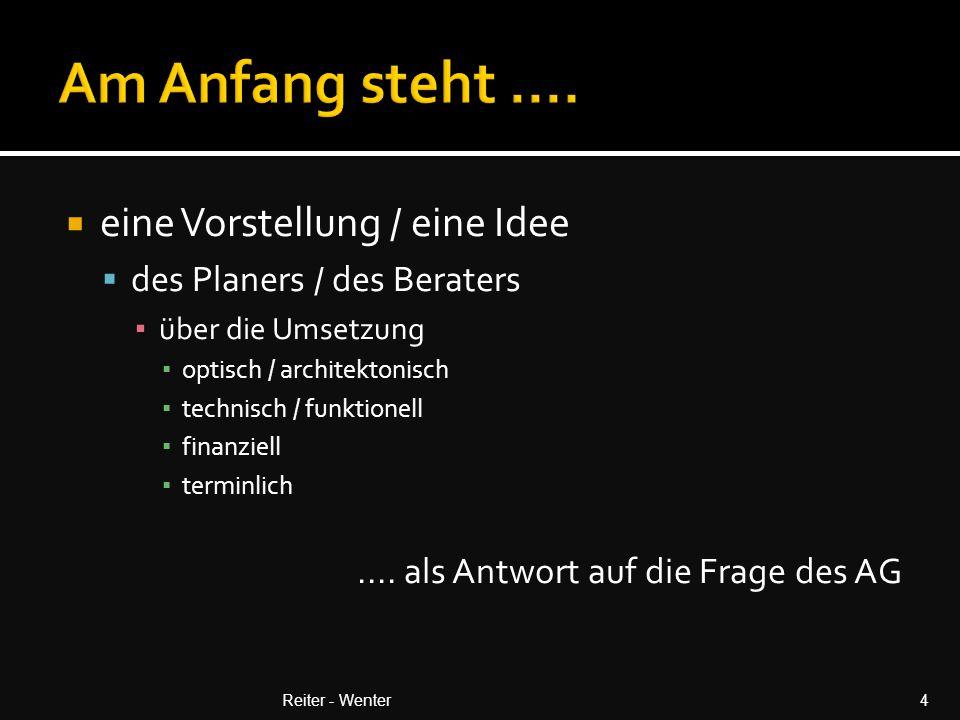  Projektumfeld  Katasterplan / Katastralmappe / DKM  Grundbuchauszug  Flächenwidmung  Altlasten / Gefahren  Verkehr (Straße, Bahn, Flug)  Lärmkataster  Bestand Nachbarn Reiter - Wenter25