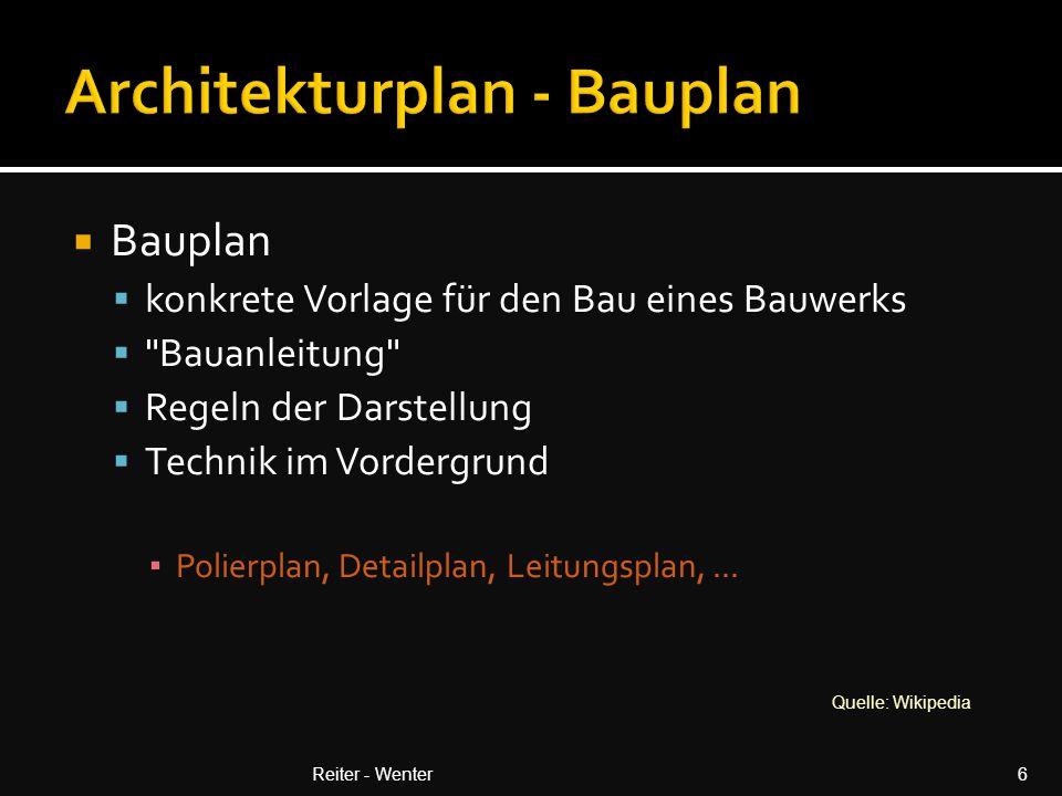 Unterscheidung nach (z.B.):  Phase  Darstellung  Fachgebiet  Inhalt  Verfasser Reiter - Wenter7