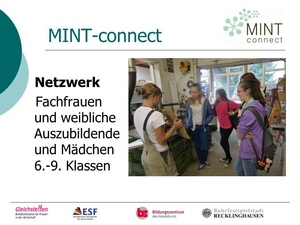 MINT-connect Netzwerk Fachfrauen und weibliche Auszubildende und Mädchen 6.-9. Klassen