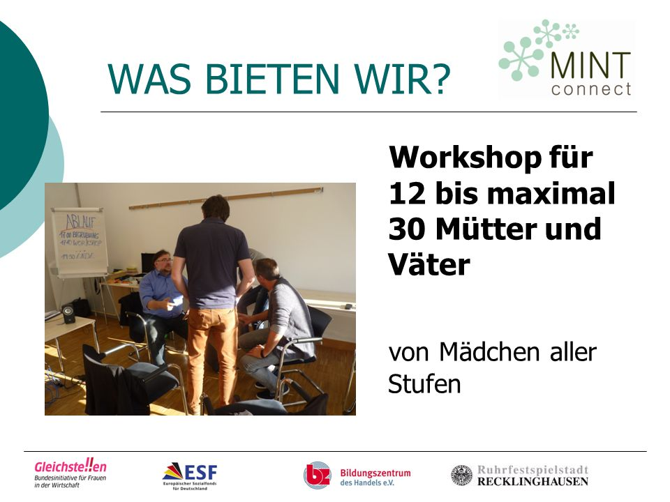 Information und… www.mint-connect.de Feb. 2013 – Dez. 2014