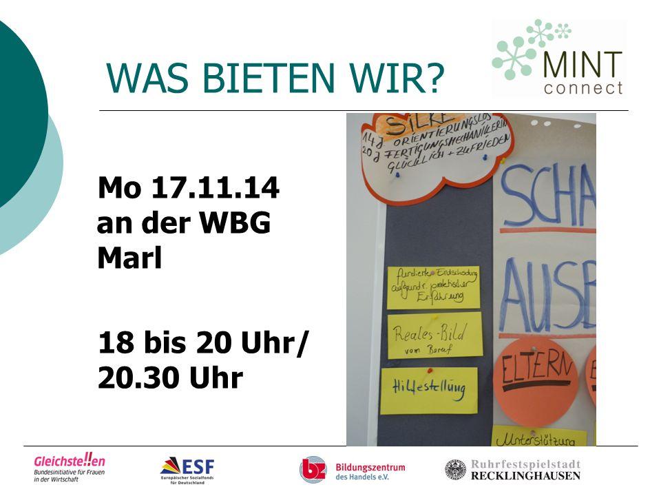 …ANMELDUNG info@mint-connect.de Tel. 02361- 48 06 212 Frau Gayk Tel. 02361- 48 06 503 Frau Baur