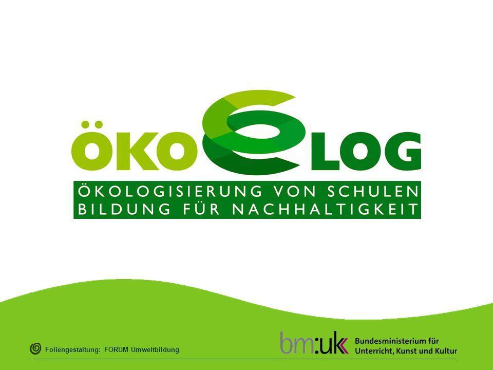 """ÖKOLOG """"Ökologisierung von Schulen – Bildung für Nachhaltigkeit (kurz ÖKOLOG) bedeutet die umwelt- und menschengerechte Gestaltung sowohl des Lehrens, Lernens und Zusammenlebens in der Schule als auch des Schulgebäudes und Schulgeländes – um eine dauerhafte, nachhaltige Lebensqualität zu gewinnen."""