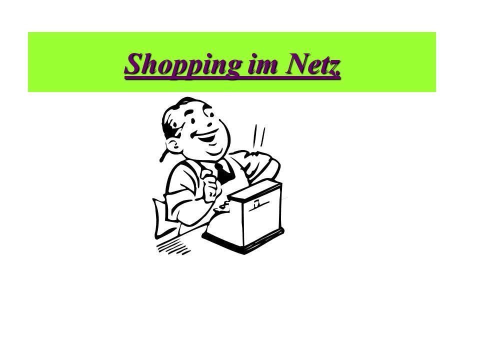 Shopping im Netz